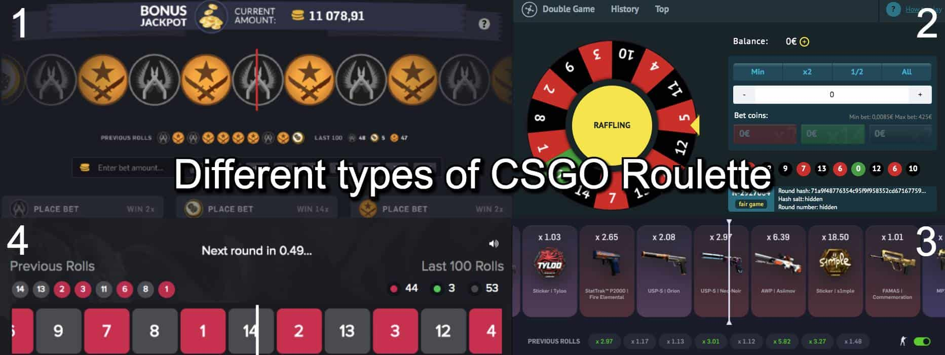 Different types of CSGO Roulette sites