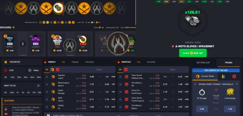 different gambling types in CSGO